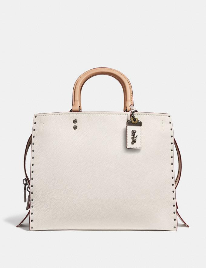 Coach Rogue With Rivets Chalk/Black Copper Women Collection Rogue