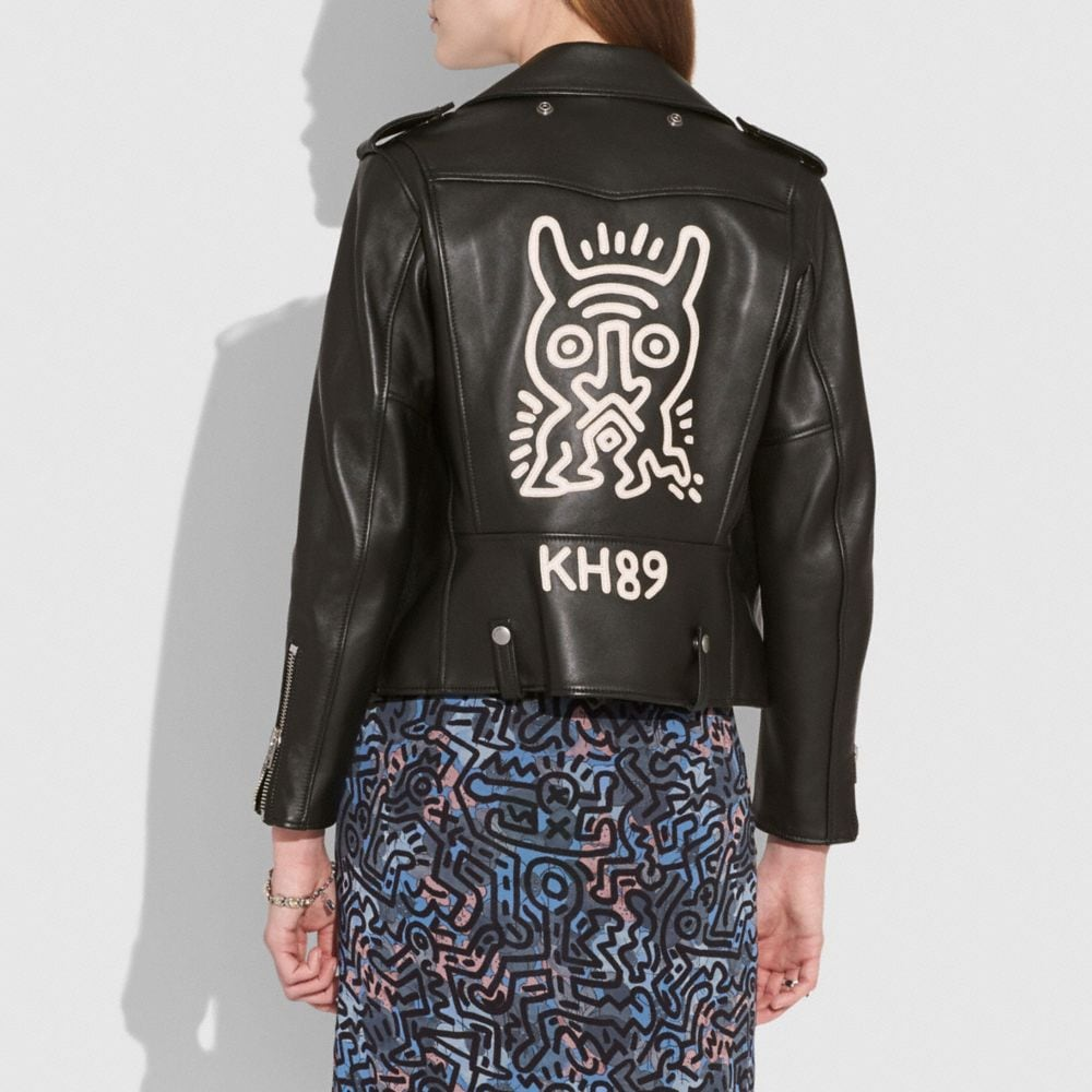 Coach Coach X Keith Haring Moto Jacket Alternate View 2