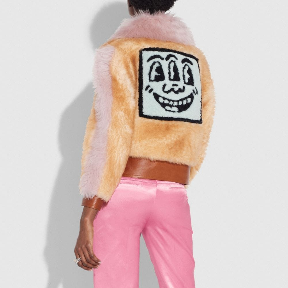 Coach Coach X Keith Haring Shearling Jacket Alternate View 2