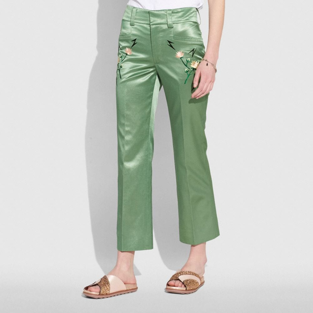 Coach Satin Tailored Trousers Alternate View 1