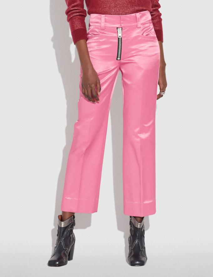 Coach Satin Tailored Trousers Light Fuschia  Alternate View 1