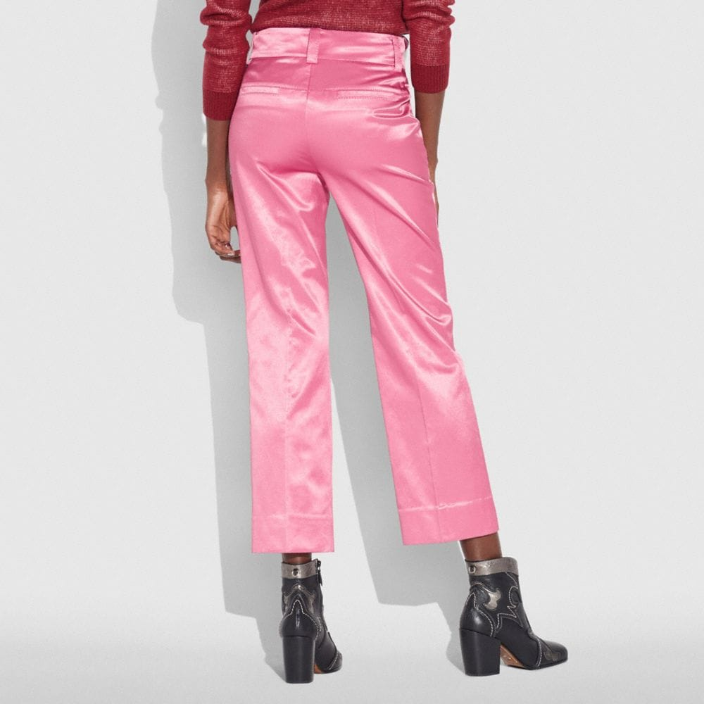 Coach Satin Tailored Trousers Alternate View 2