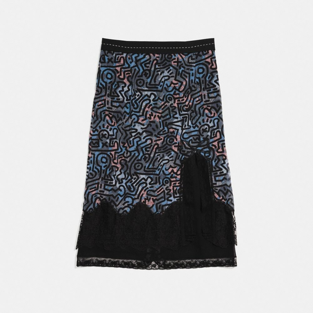 Coach Coach X Keith Haring Long Crochet Skirt Alternate View 1