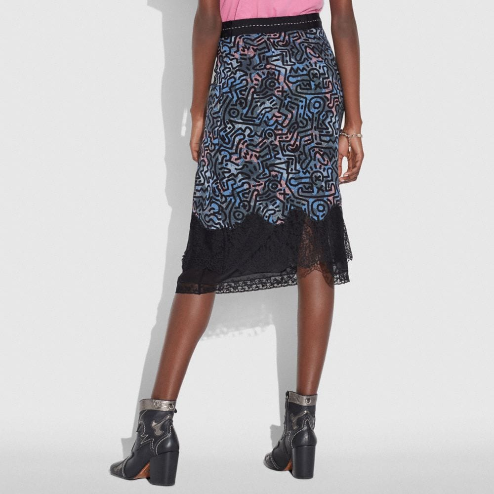 Coach Coach X Keith Haring Long Crochet Skirt Alternate View 2