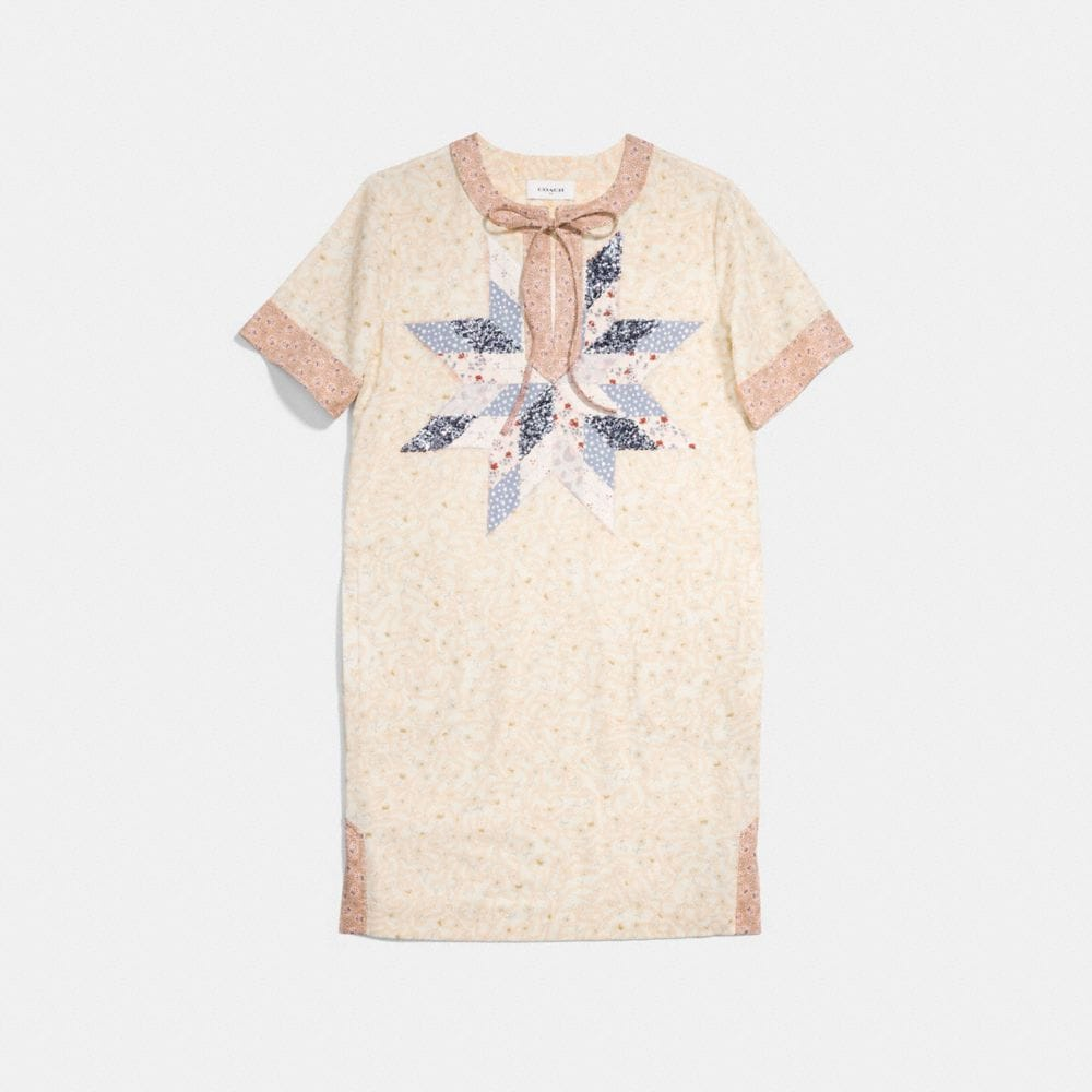 COACH X KEITH HARING QUILTED PATCHWORK T-SHIRT DRESS