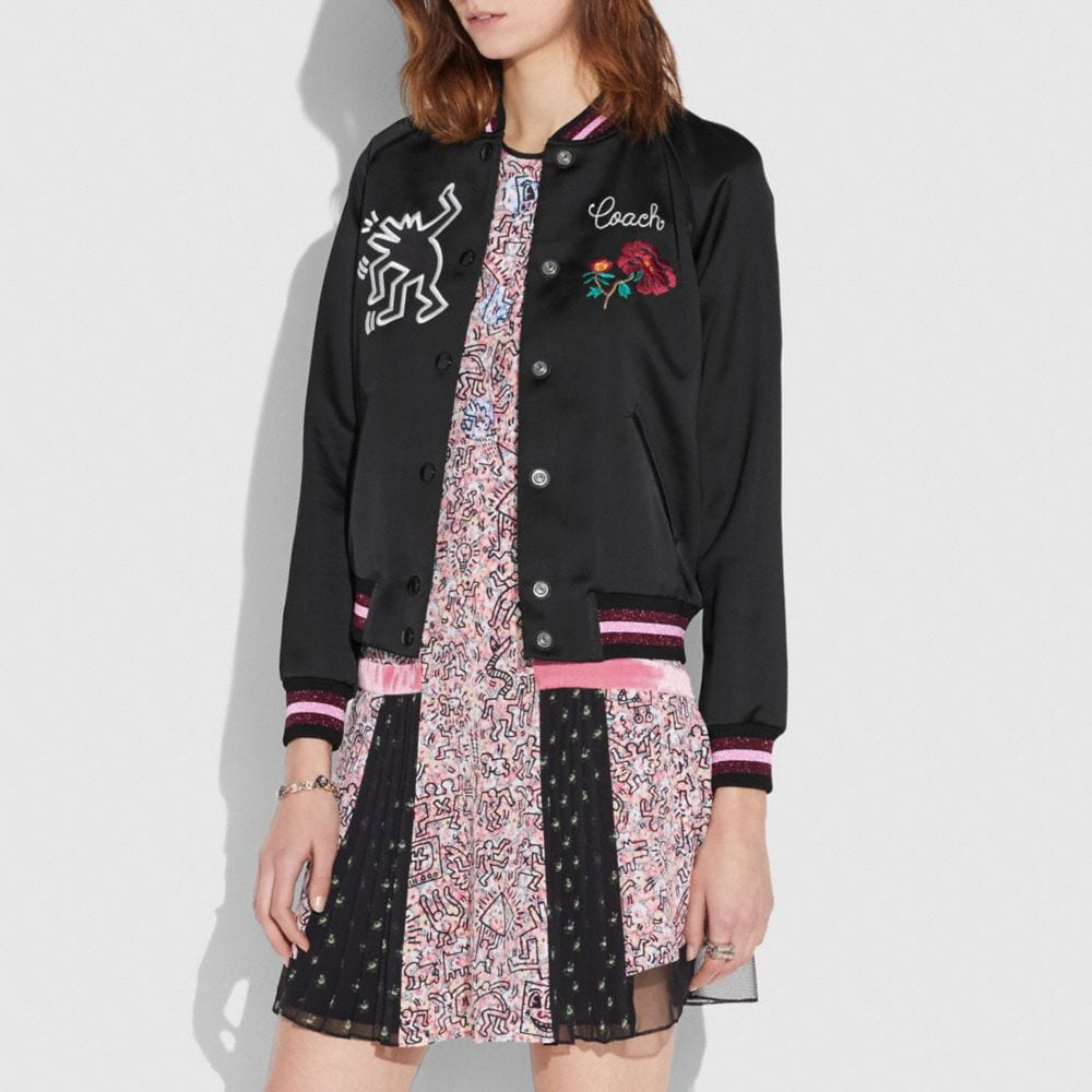 COACH X KEITH HARING VARSITY JACKET