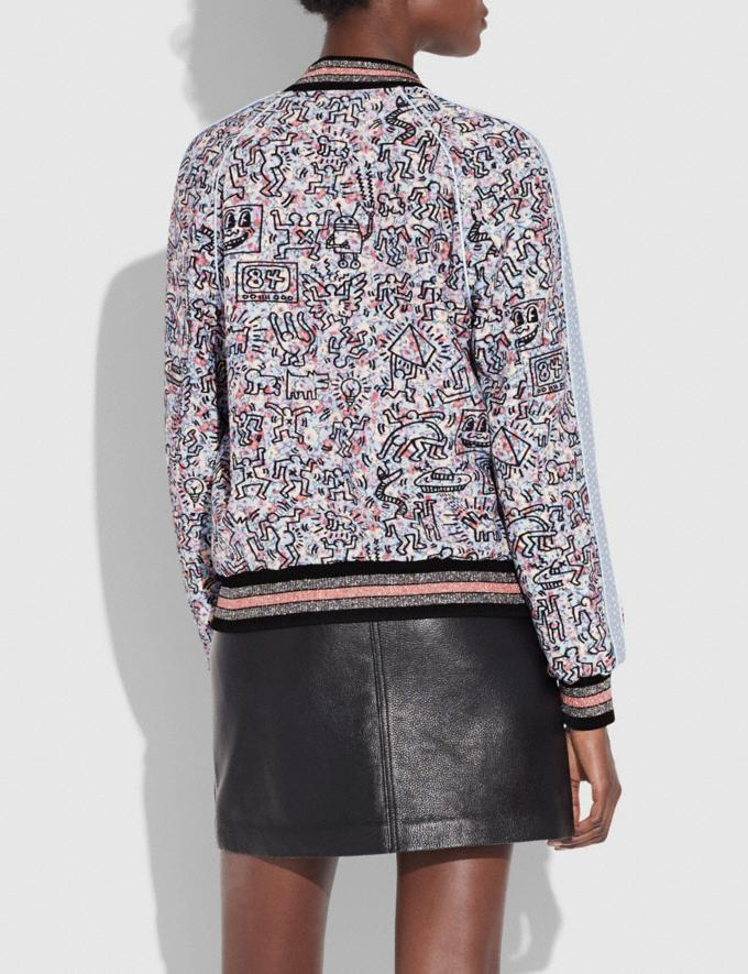 Coach Coach X Keith Haring Reversible Satin Jacket Pj Pink/Light Blue  Alternate View 4