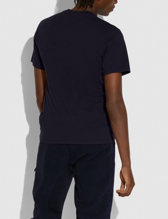 Coach Coach X Richard Bernstein Pink and Blue Jello Heart T-Shirt Black New Men's New Arrivals Ready-to-Wear Alternate View 2