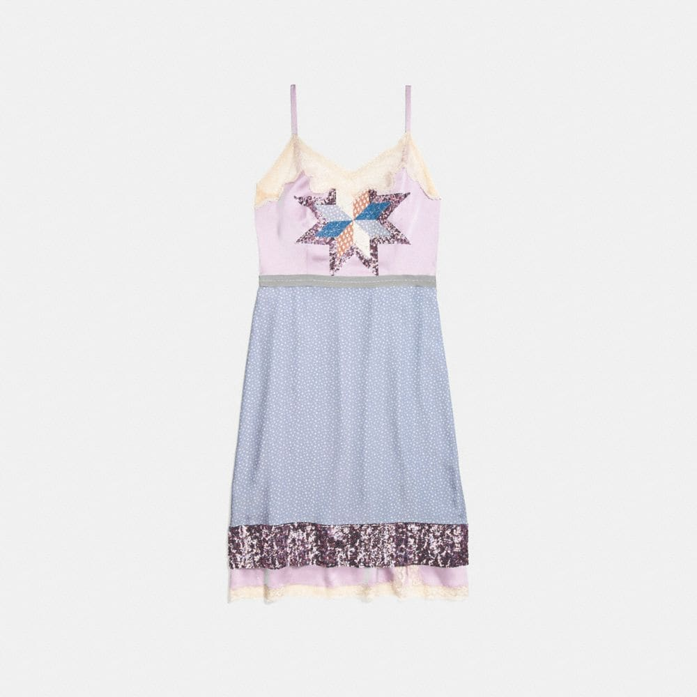 Coach Quilted Patchwork Slip Dress