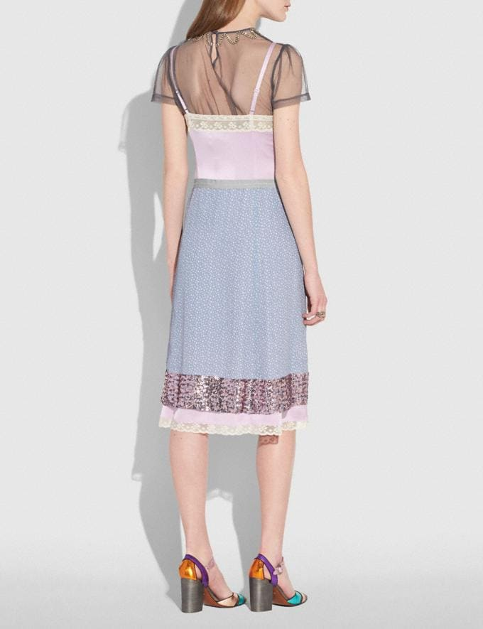 Coach Quilted Patchwork Slip Dress Pale Lilac  Alternate View 2