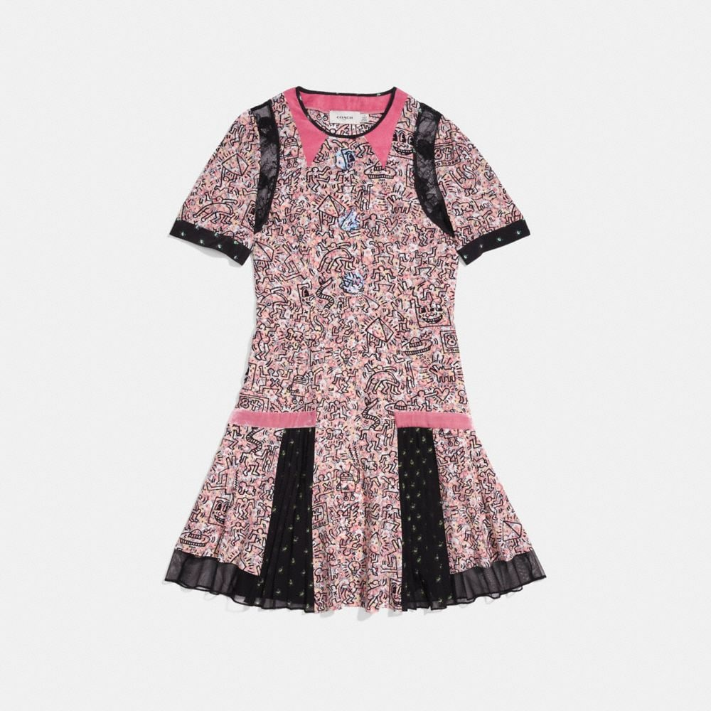 COACH X KEITH HARING PLEATED DRESS