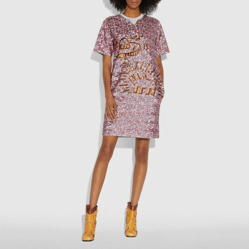 COACH X KEITH HARING EMBELLISHED DRESS