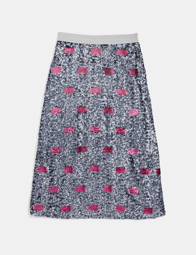 Coach Embellished Skirt Pink/Silver