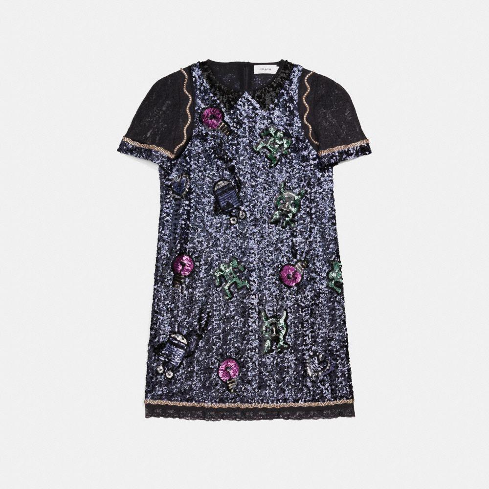 Coach Coach X Keith Haring Embellished Shift Dress