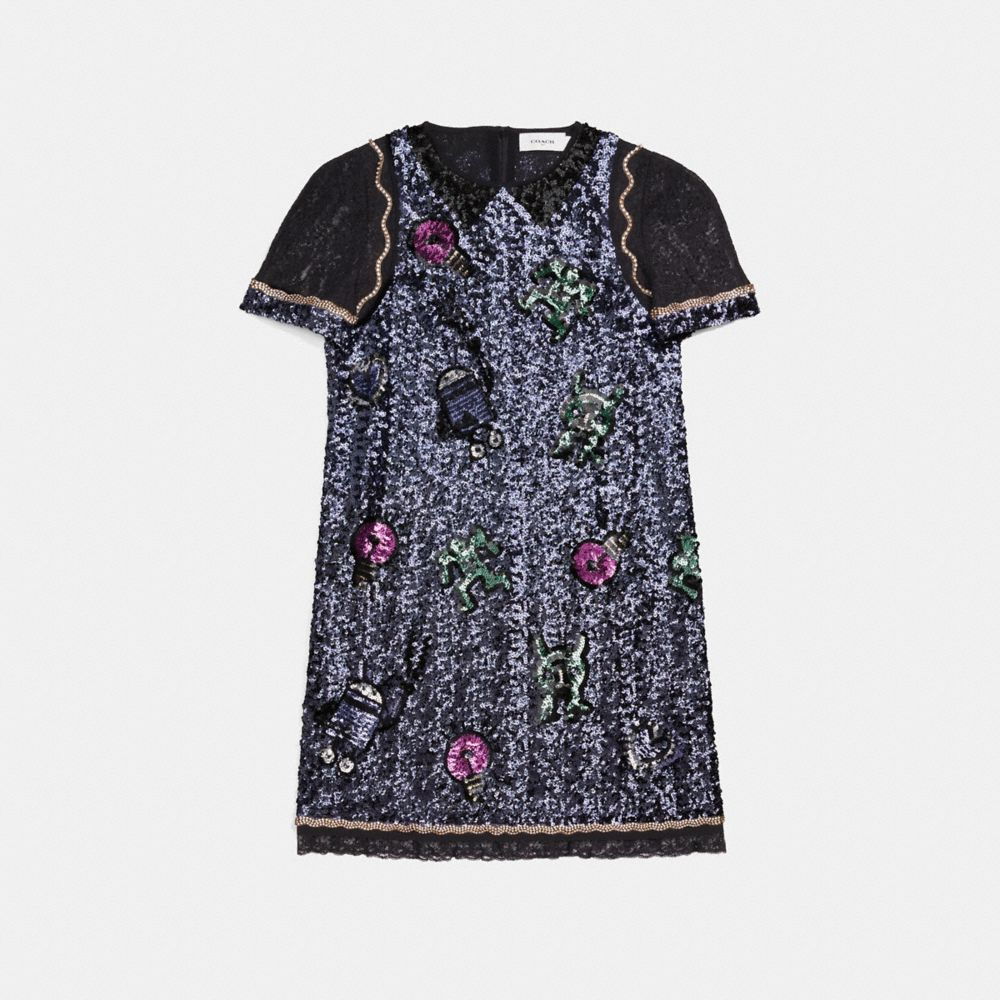 Coach Coach X Keith Haring Embellished Shift Dress