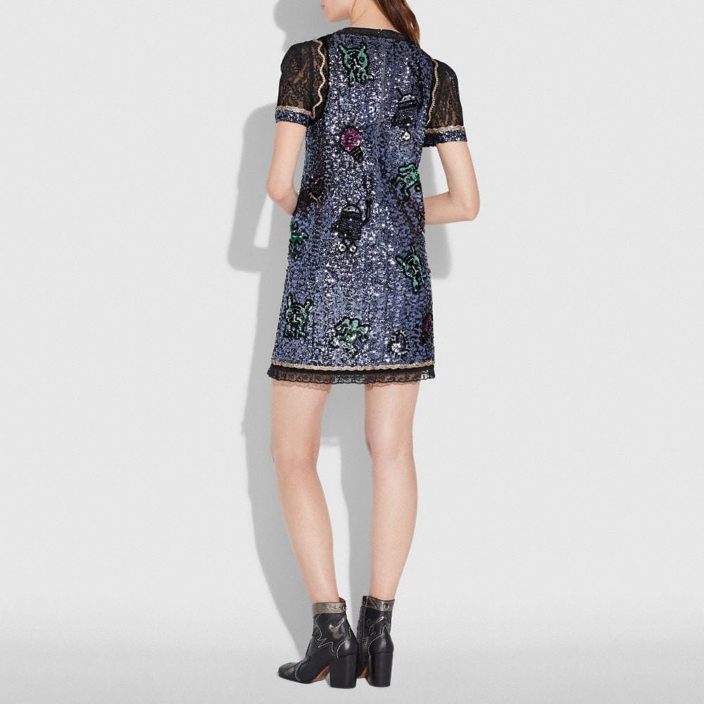 Coach Coach X Keith Haring Embellished Shift Dress Alternate View 2