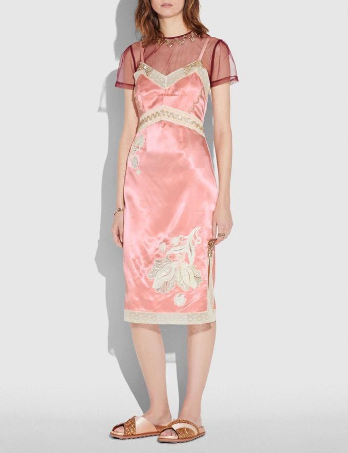 Coach Embellished Empire Slip Dress Pajama Pink  Alternate View 1