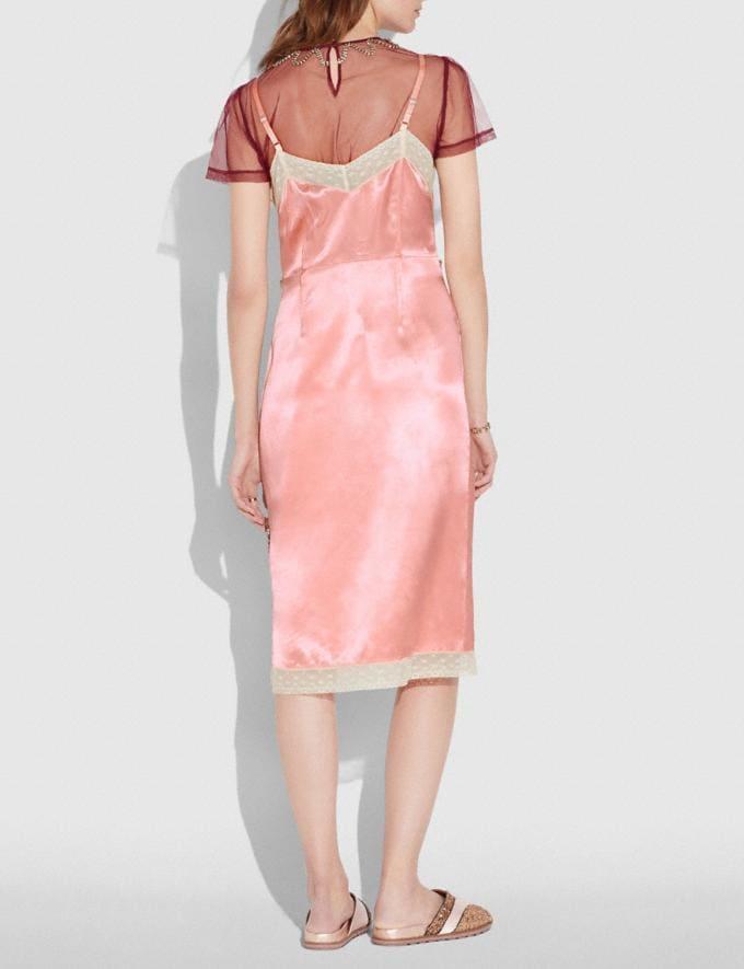 Coach Embellished Empire Slip Dress Pajama Pink  Alternate View 2