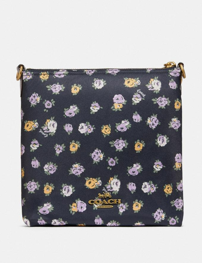 Coach Cargo Crossbody With Vintage Rose Print Brass/Midnight Navy Gifts For Her Under $300 Alternate View 2