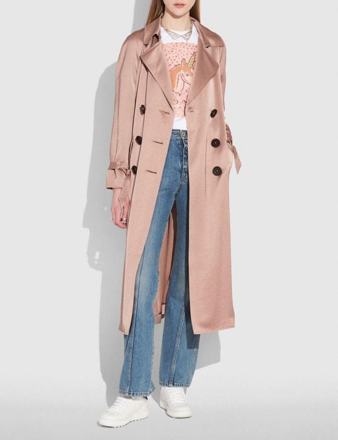 Coach Soft Trench Pink  Alternate View 1