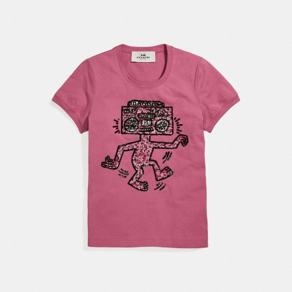 Coach X Keith Haring embellished T-shirt