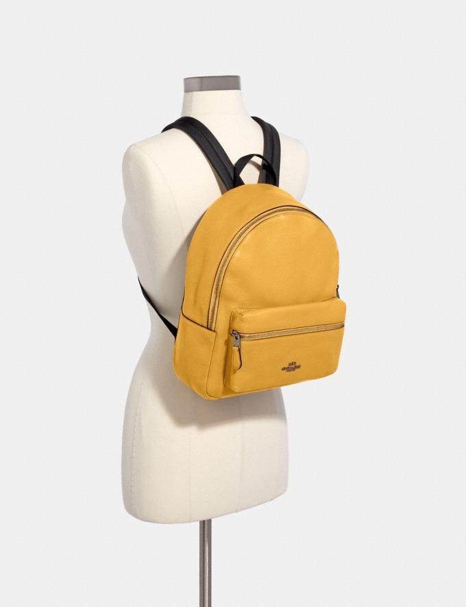 Coach Medium Charlie Backpack Qb/Honey Bags Bags Backpacks Alternate View 2