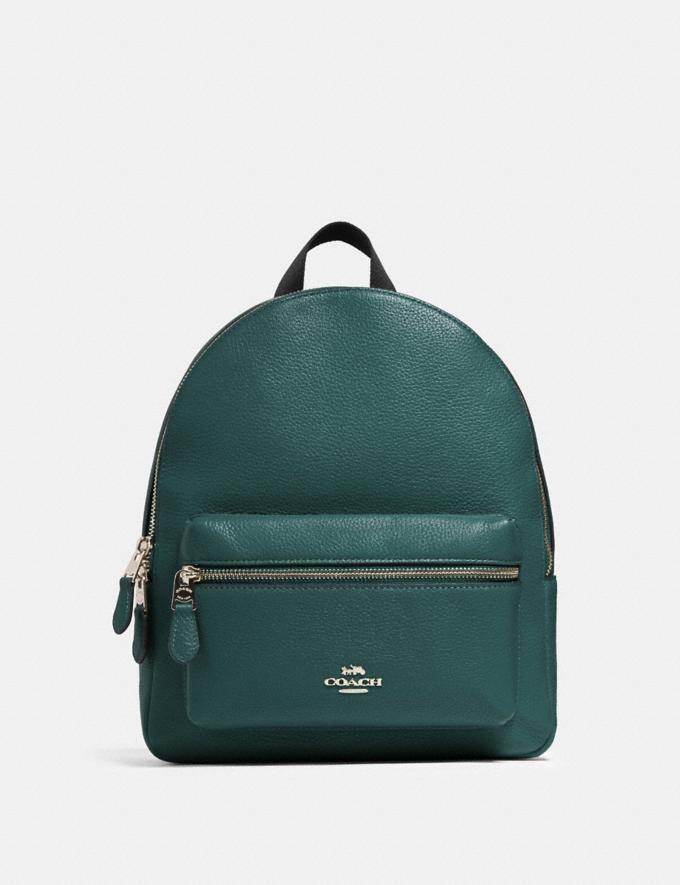 Coach Medium Charlie Backpack Sv/Dark Turquoise Women Bags