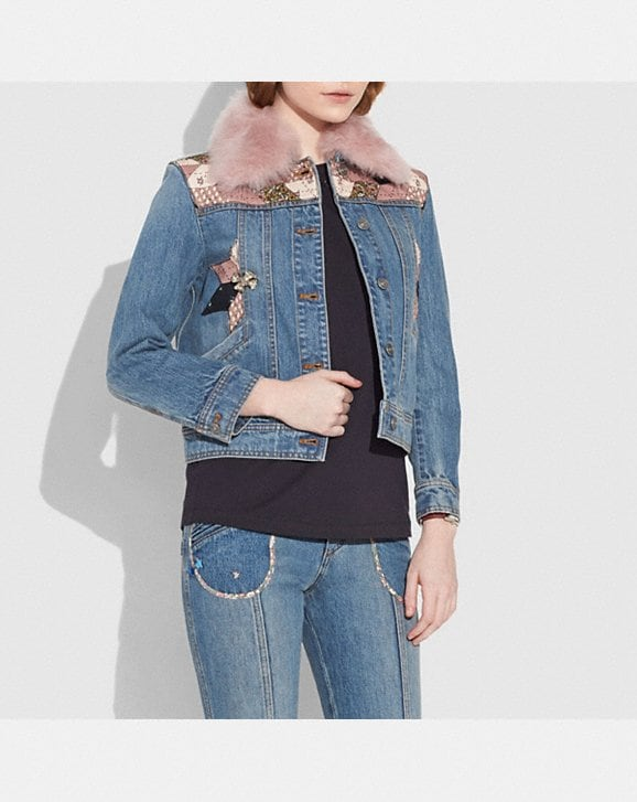 Coach Quilted Patchwork Denim Jacket