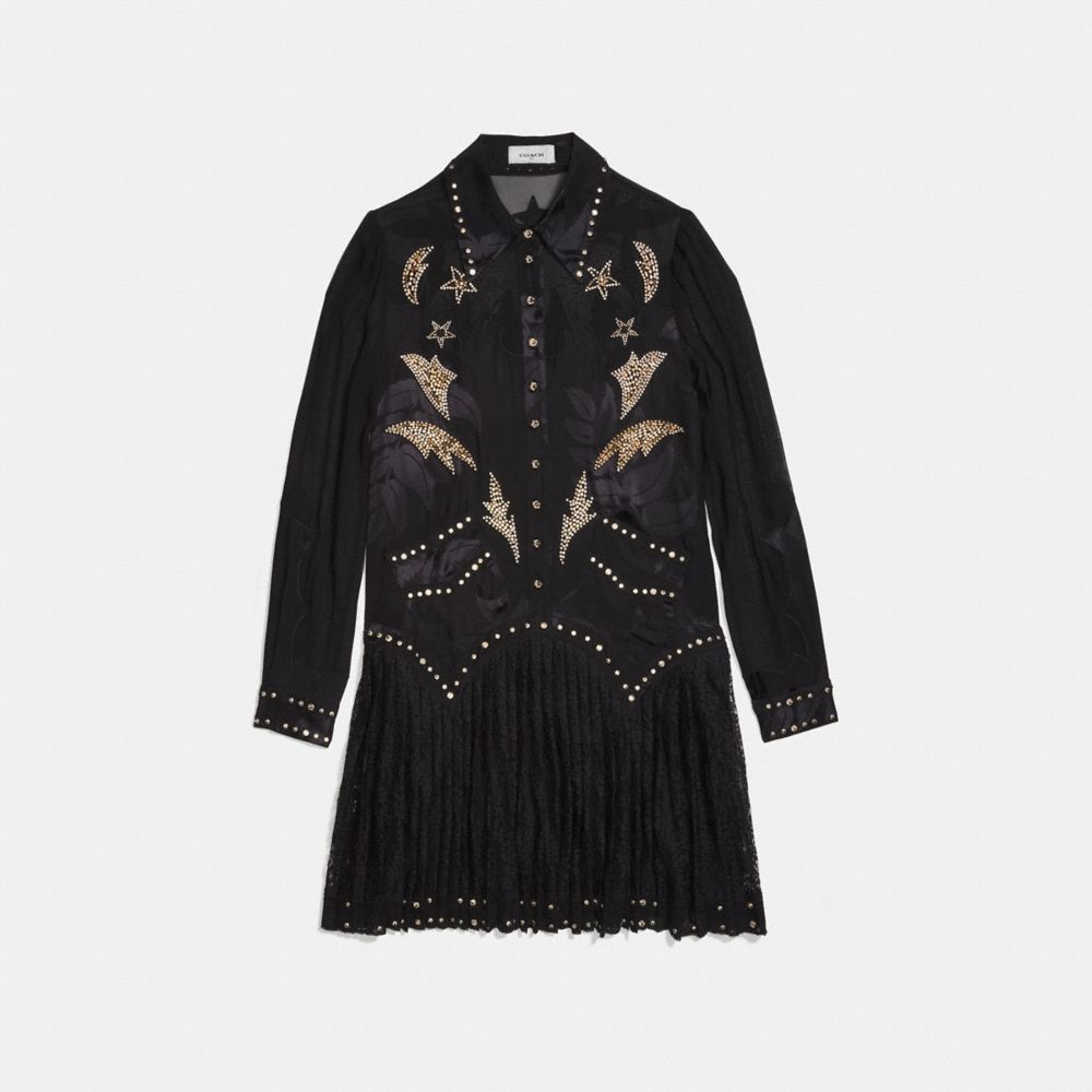 Coach Crystal Embellished Western Dress