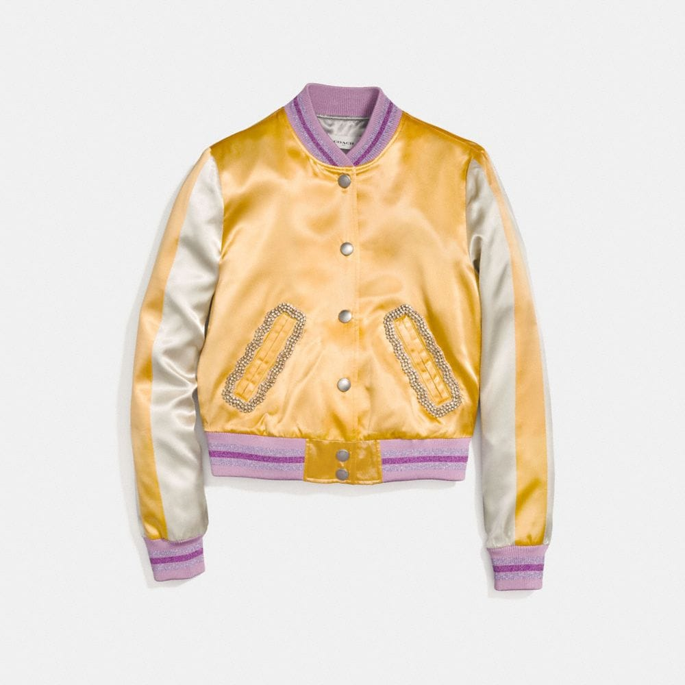 Coach Satin Varsity Jacket