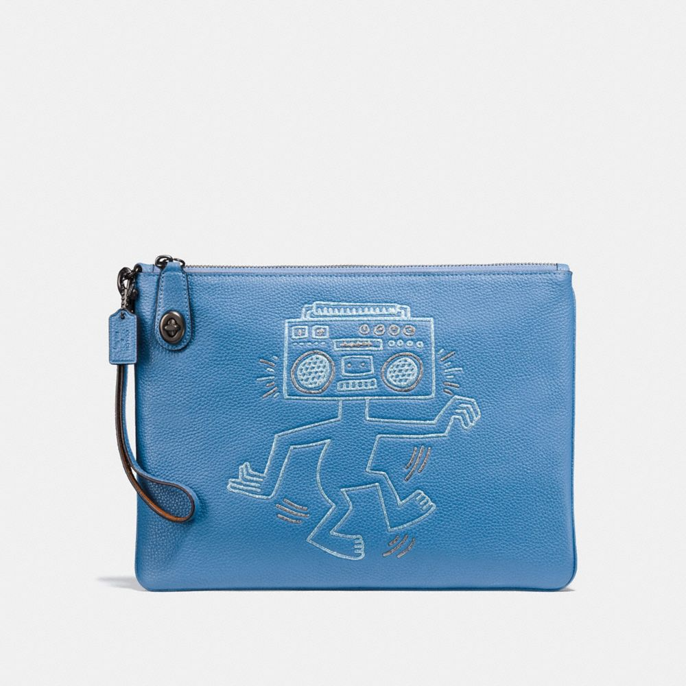 COACH X KEITH HARING TURNLOCK WRISTLET 30
