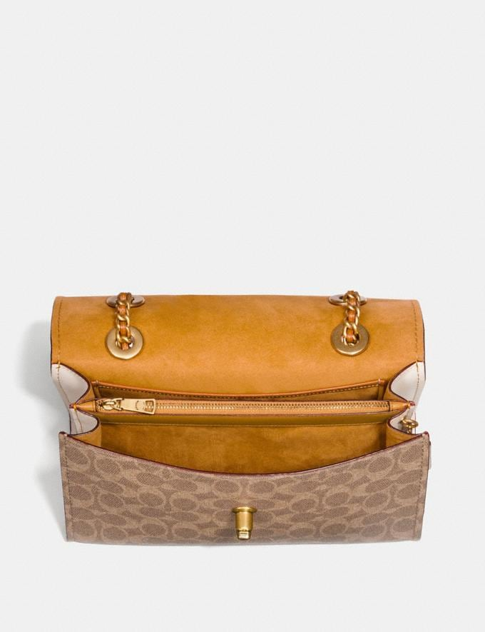 Coach Parker in Colorblock Signature Canvas Rust/Brass New Women's New Arrivals Alternate View 2