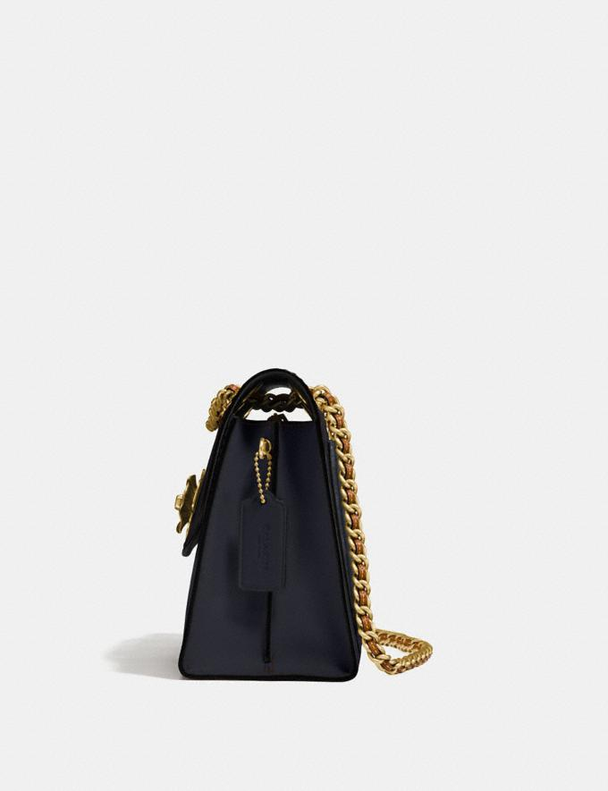 Coach Parker in Colorblock Signature Canvas Charcoal/Midnight Navy/Brass Women Bags Shoulder Bags Alternate View 1