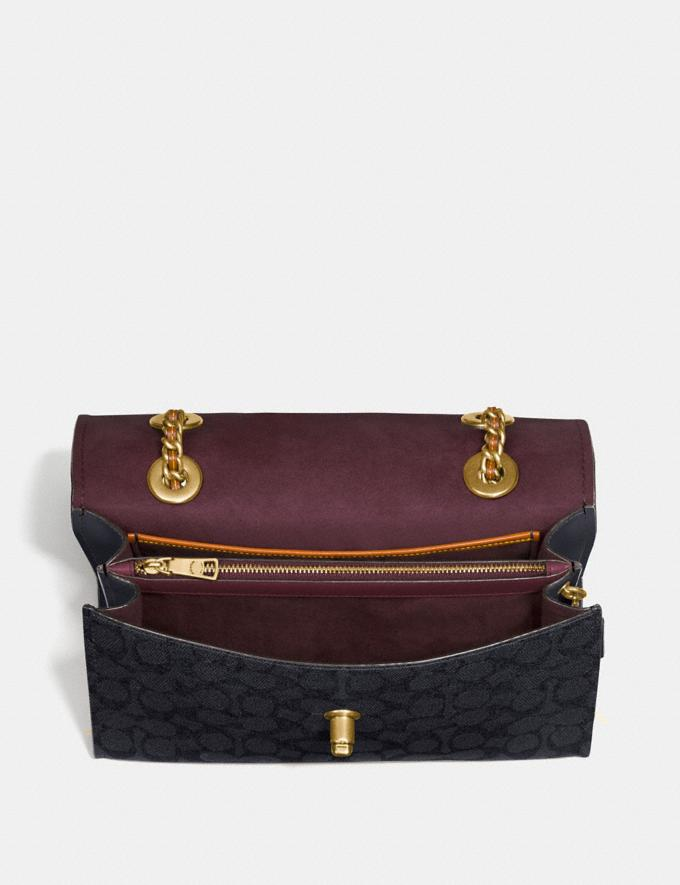 Coach Parker in Colorblock Signature Canvas Charcoal/Midnight Navy/Brass Women Bags Shoulder Bags Alternate View 3