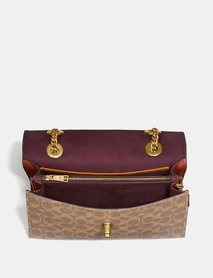 Coach Parker in Colorblock Signature Canvas Rust/Brass Customization For Her The Monogram Shop Alternate View 3