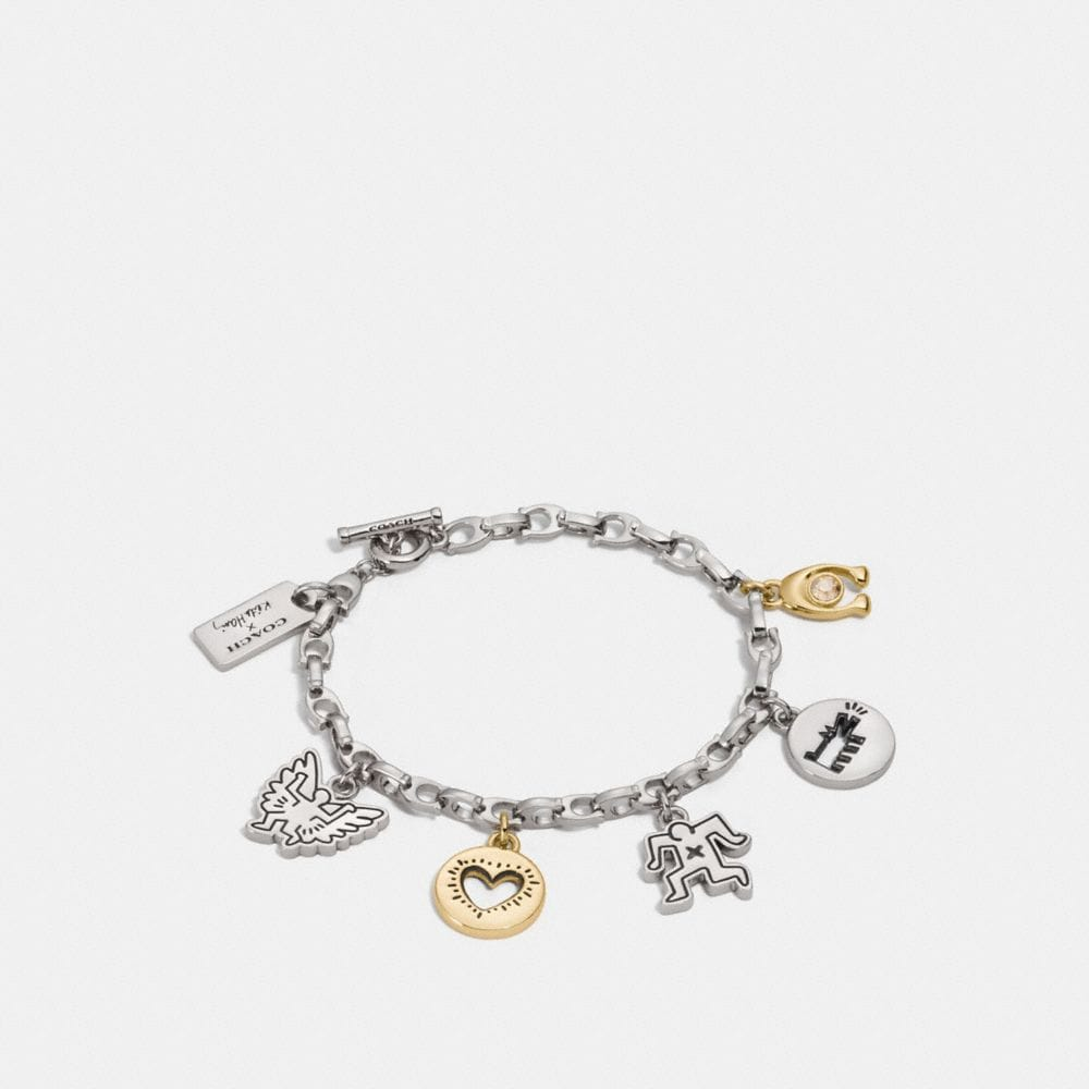 COACH X KEITH HARING CHARM BRACELET