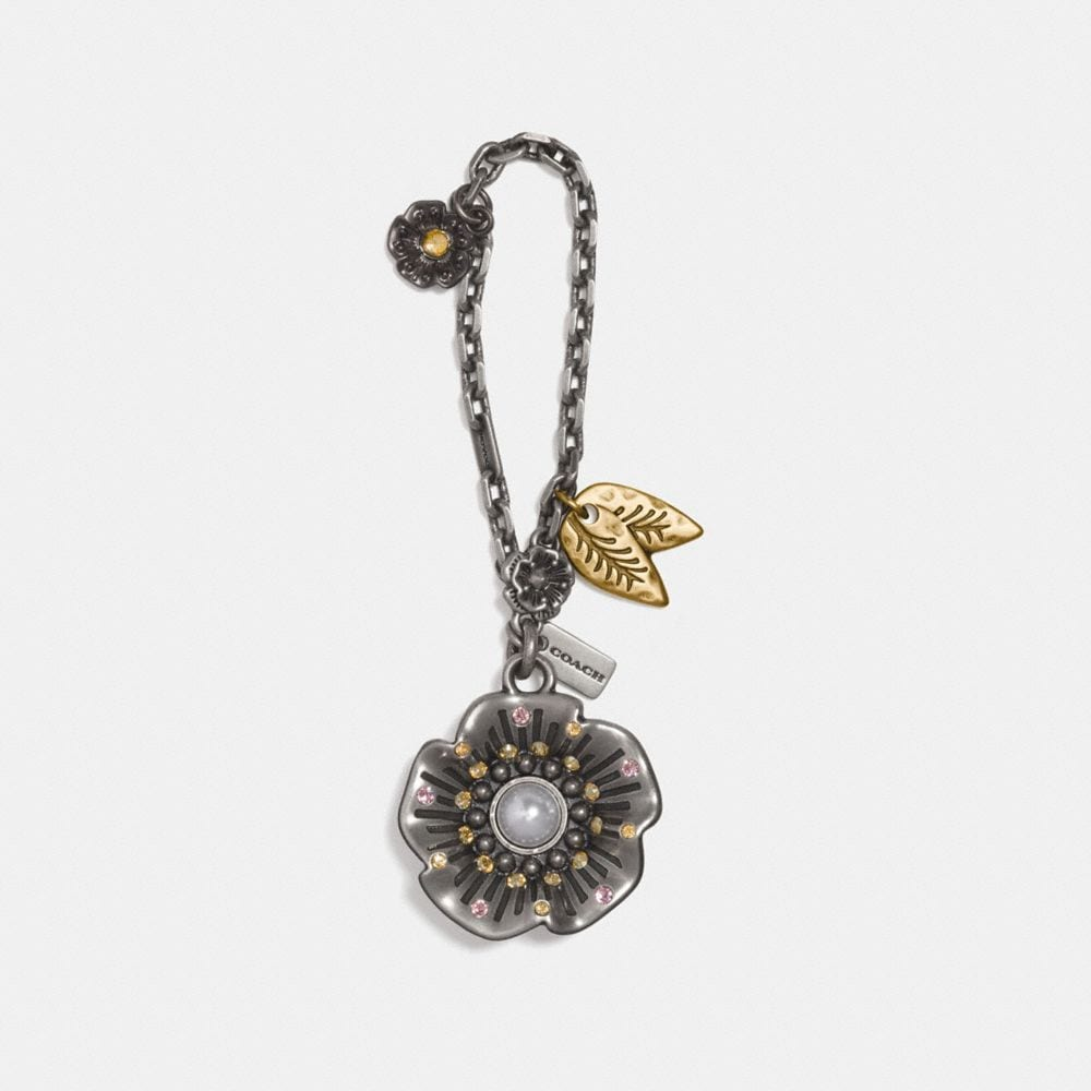 Coach Studded Tea Rose Bag Charm