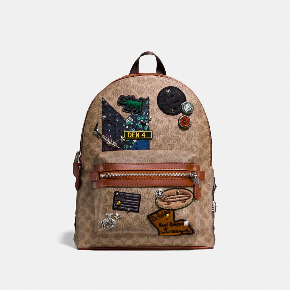 COACH X KEITH HARING ACADEMY BACKPACK IN SIGNATURE PATCHWORK