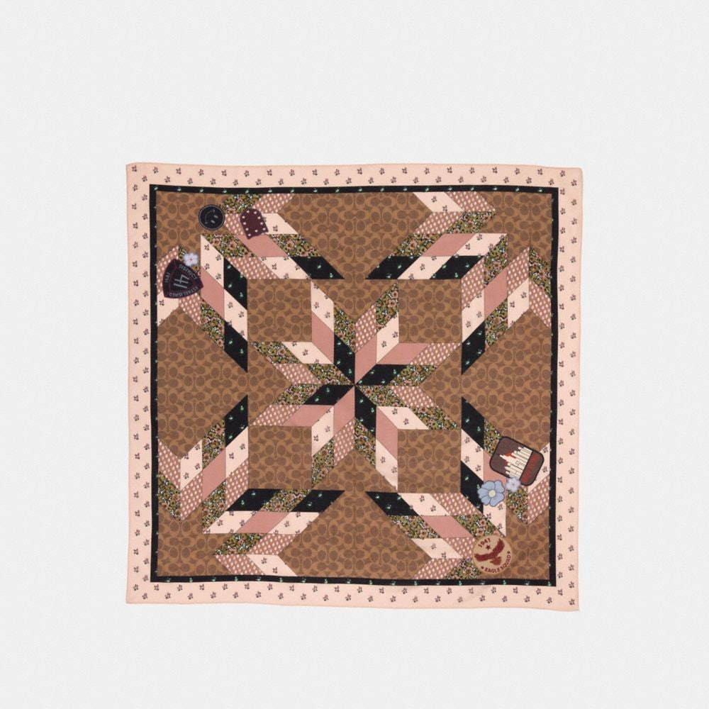 PATCHWORK SIGNATURE SQUARE
