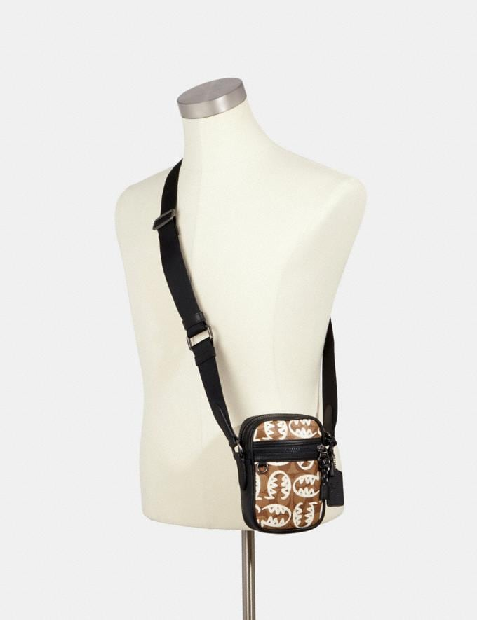 Coach Terrain Crossbody in Signature Canvas With Rexy by Guang Yu Qb/Tan Chalk  Alternate View 2