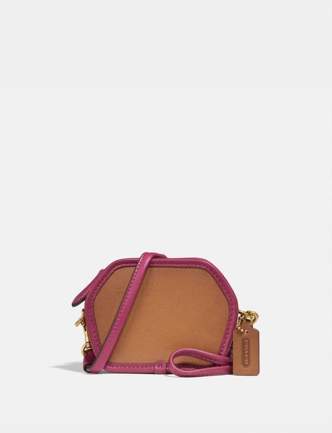 Coach Geometric Coin Case in Colorblock B4/Light Saddle Multi VIP SALE Women's Sale Wallets & Wristlets