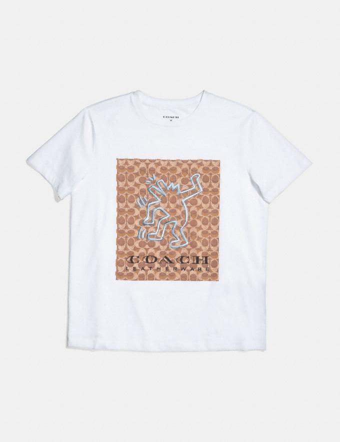 Coach T-Shirt Coach X Keith Haring Blanc Optique VENTE PRIVÉE Pour elle Prêt-à-porter