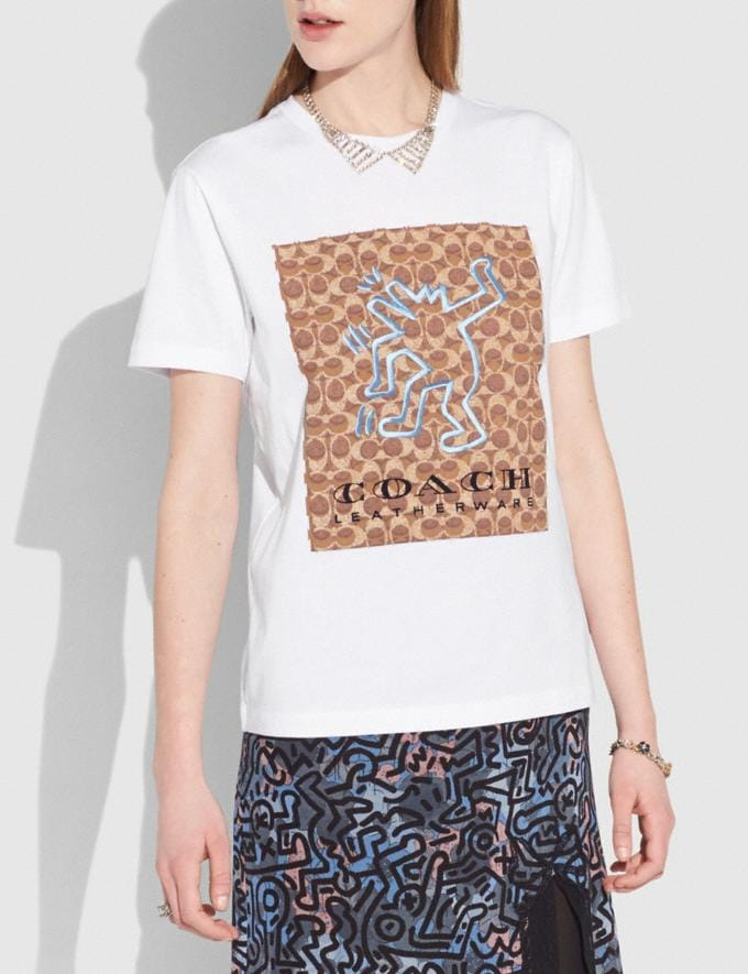 Coach T-Shirt Coach X Keith Haring Blanc Optique VENTE PRIVÉE Pour elle Prêt-à-porter Autres affichages 1