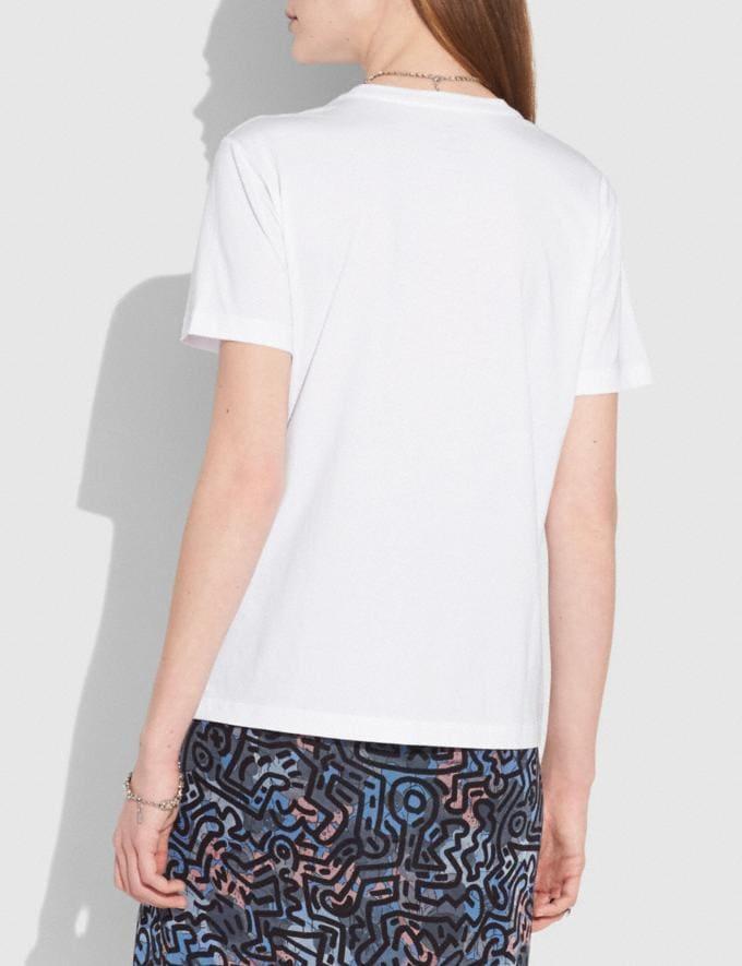 Coach T-Shirt Coach X Keith Haring Blanc Optique VENTE PRIVÉE Pour elle Prêt-à-porter Autres affichages 2