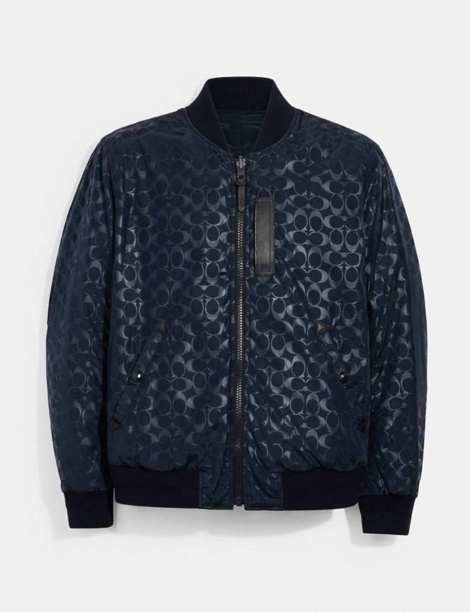 Coach Reversible Signature Ma-1 Jacket Navy