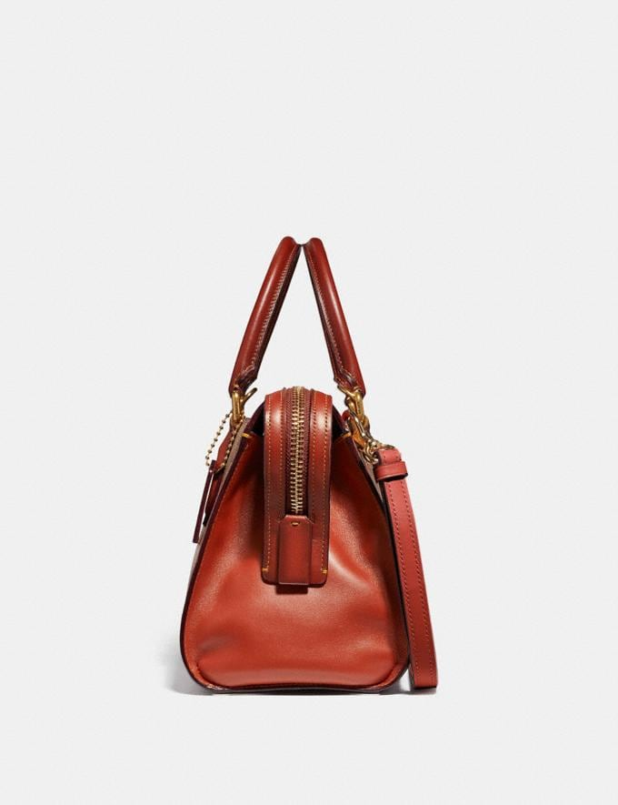 Coach Bond Bag in Signature Canvas Tan/Rust/Brass Bags Alternate View 1