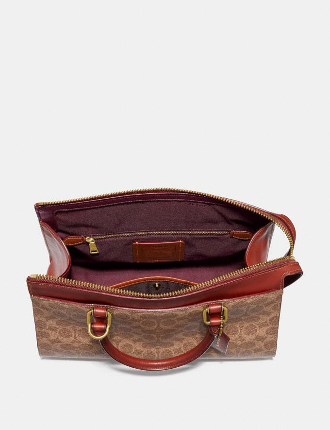 Coach Bond Bag in Signature Canvas Tan/Rust/Brass Bags Alternate View 2