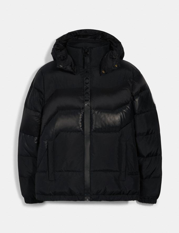 Coach Hooded Down Jacket Black DEFAULT_CATEGORY