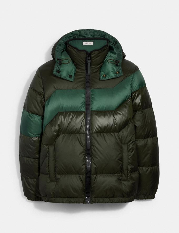 Coach Hooded Down Jacket Rosin DEFAULT_CATEGORY