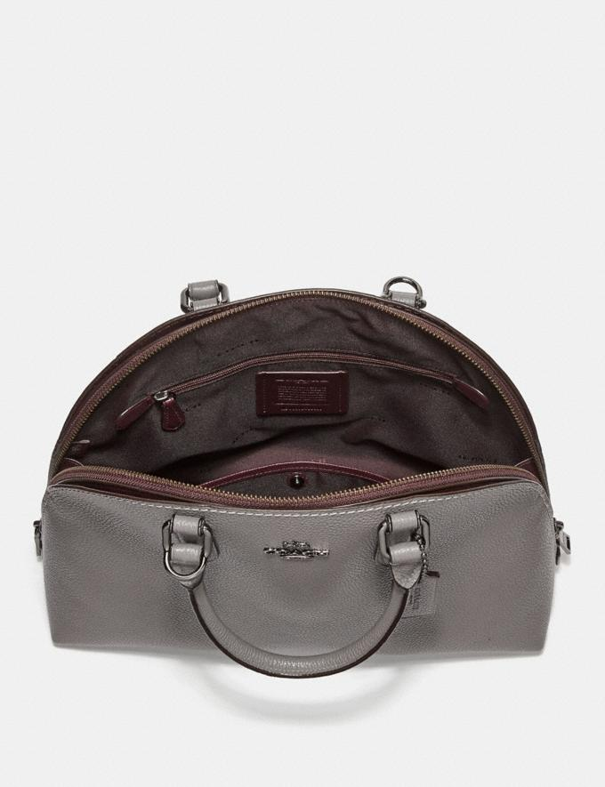 Coach Quinn Satchel Heather Grey/Dark Gunmetal Women Bags Satchels Alternate View 2